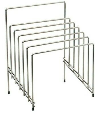 Chopping Board Rack Catering Heavy Duty Storage Stand 6 Slot Tiered Chrome