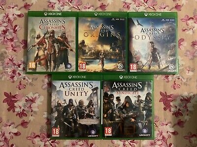 Assassin's Creed Odyssey Origins Chronicles Syndicate Unity Xbox One Lot Of 5