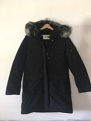 Mens ladies Unisex The North Face Isolation Hoodie Fur Parka Jacket Goose Down
