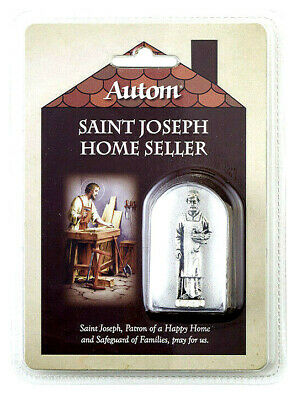 """St Joseph Home Sellers Kit (1-7/8"""" Metal St Joseph Statue in a Protective Case)"""