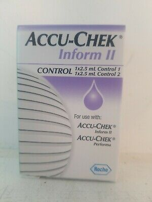 Accu-chek Inform II Control Solution 2.5 ML LOT of 12.  FREE SHIPPING!!!!