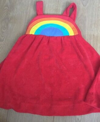Little bird By Jools Oliver girls Age 2-3 Years Red Towelling dress 🌈