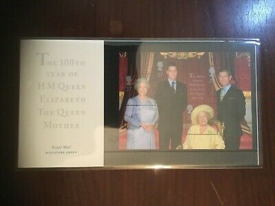 GB MINT STAMPS Miniature-Sheet Presentation Pack of QUEEN MOTHER Stamps Superb