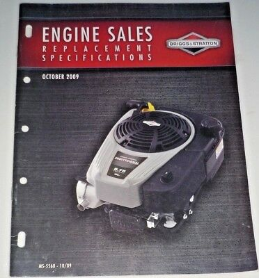 Briggs & Stratton Dealer Engine Sales Replacement Specifications MS-5568-10/09