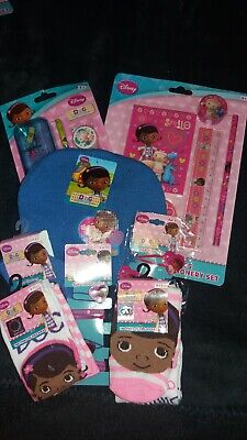 DOC MCSTUFFINS HAIR CLIPS HAT GLOVES socks size  9-11 wonderful gift for christ