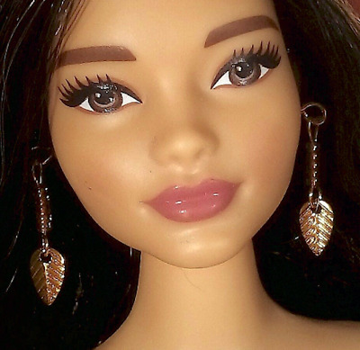 Dreamz GOLD DIMPLE EARRINGS Textured Round Discs Doll Jewelry For Barbie