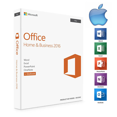 MS Office 2016 Home and Business For Mac Activation Key - AU Stock