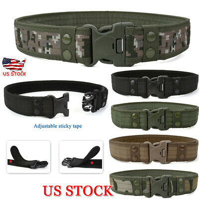 Men's Tactical Military Training Heavy Duty Nylon Quick Release Rigger's Belt US