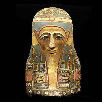 * An Egyptian Gilt Cartonnage Mummy Mask, Ptolemaic Period, 1st century BC