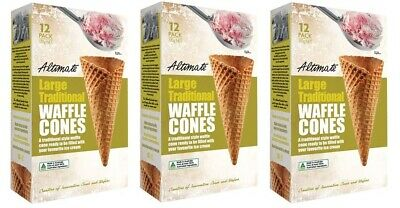 NEW Altimate Large Traditional Waffle Cones 510G from Fairdinks
