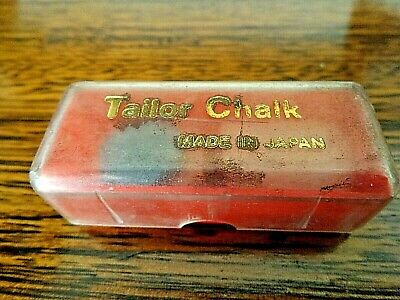 Rare Vintage Tailors Chalk Boxed Made in Japan 1950s Collectible Plastic Box