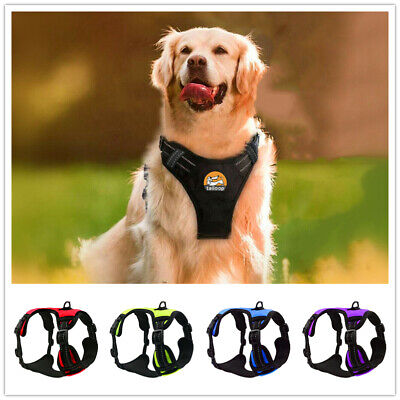 No-Pull Strong Adjustable Dog Harness Reflective Pet Puppy Harnesses Size S-XL