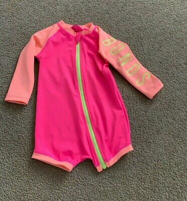 Baby BONDS long sleeve swimsuit size 0 6-12 Months