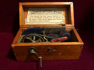 Antique 1800's MAGNETO Electric Machine Quack Medical Shock Device