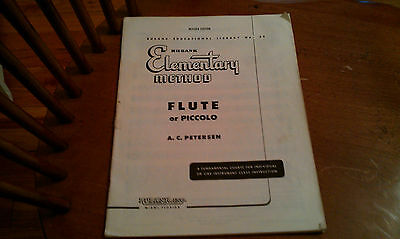 Rubank Elementary Method Flute Or Piccolo No. 38 Revised Edition A.C. PETERSEN