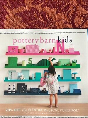 Pottery Barn Kids 20% Off Your Entire In-Store Purchase Expires 12/31/2019