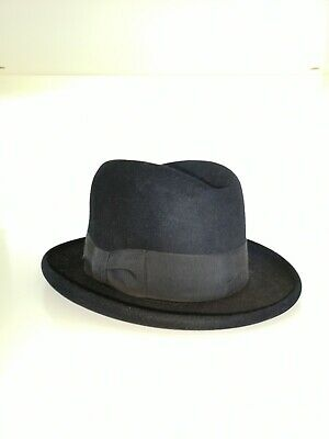 Vintage homburg hat made in Britain Bennett of London