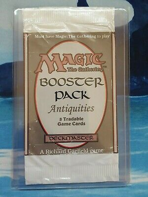 Antiquities Booster Pack Wrapper MTG Magic the Gathering Empty ATQ Set Edition