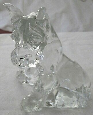 Clear Glass Dog Figurine Great Dane