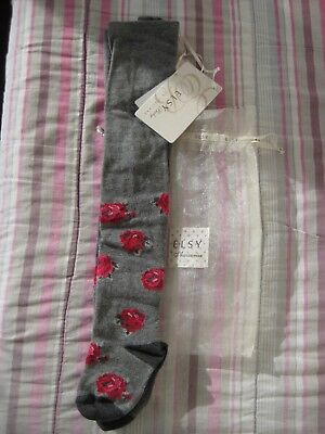 Baby Infant Party Tights Bow Heart Beige White Red Pink Grey NB 3 6 12 24 M 42
