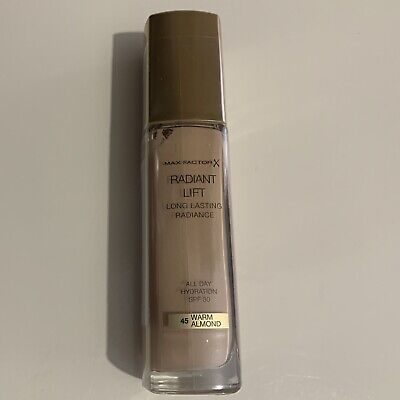 Max Factor Radiant Lift 45 Warm Almond Spf 30 Long Lasting  Foundation 30ml