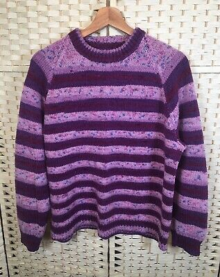 TOPSHOP DELICATE Premium hand knit Multi Stitch BOBBLE POMPOM JUMPER SWEATER NEW
