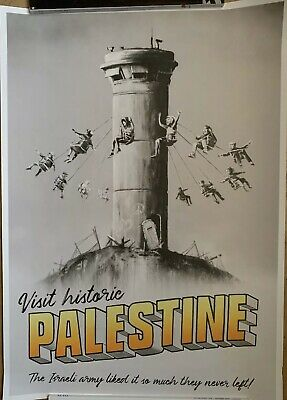 Walled Off Hotel BANKSY Visit Palestine Poster New With Certificate COA