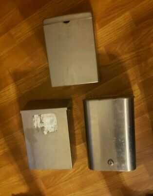 3 Stainless Steel Sanitary Napkin Receptacle Trash Commercial Mountable Read