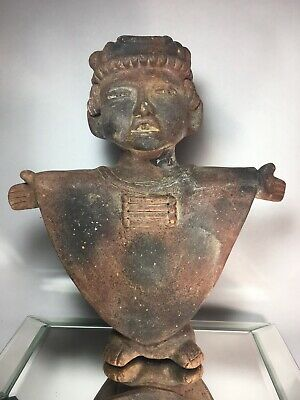 Reproduction Pre-Columbian Style Terra Cotta Figure Nayarit Terra Cotta Red