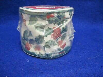 5 Yards Longaberger Traditional Holly Wired Ribbon