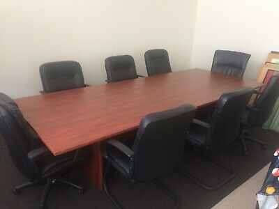 Board Room Table and 8 Chairs