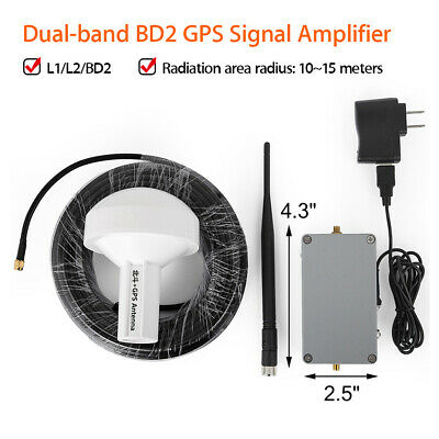 GPS BD Signal Repeater Amplifier Transfer Transmitter L1 L2 BD2 with 25M Antenna