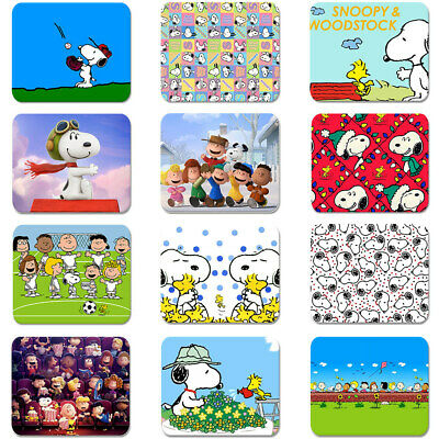 Cartoon Snoopy Peanuts Soft Rubber Mouse Pad Laptop Computer PC Gaming MousePad