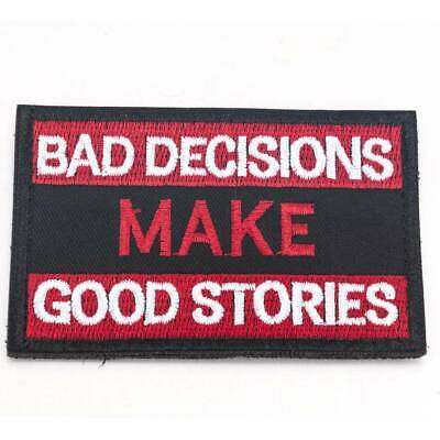 Biker Patches Words Slogans Iron On Sew On Motorcycle Patch Transfer Funny Joke