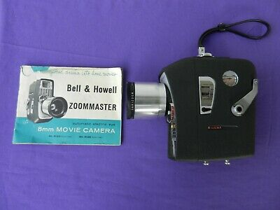 Cine Movie Camera Bell and Howell Zoom Master 8mm Vintage