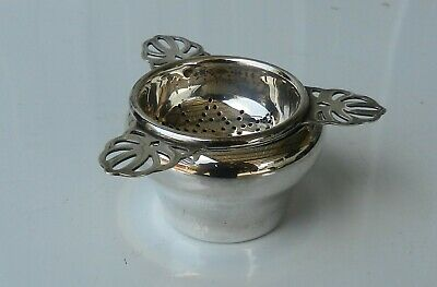 Silver Tea Set Strainer and Stand Silverware Flatware Vintage EPNS Stokes