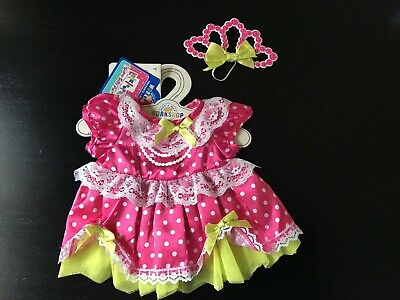 BNWT - Lalaloopsy Jewel Dress - Build A Bear Genuine Clothes