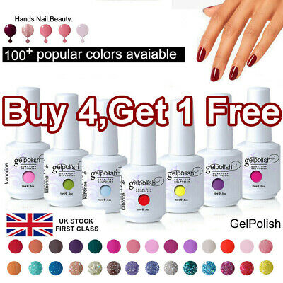 Colorful 15ML GEL LAB Gel Nail Polish Top Base Coat Soak Off Manicure Varnish ☆