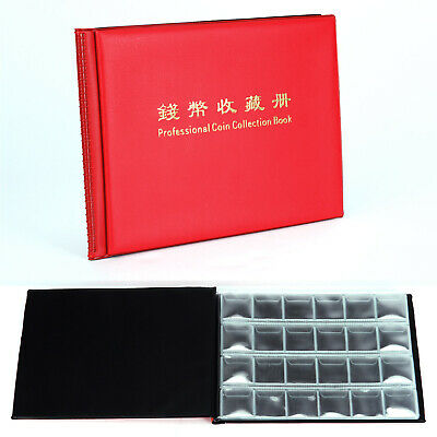 Collecting Coin Penny Money Pocket Storage Album Book Holder Case Red