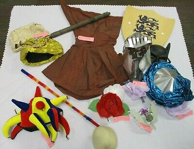 Fancy Dress Outfits Accessories Job Lot, Handmade Hats etc., Dressing Up, Play