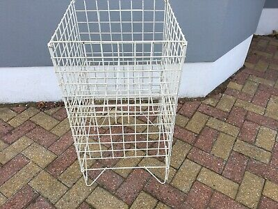 WHITE SQUARE DUMP BIN WIRE BASKET SHOP DISPLAY AND RETAIL Shop fittings