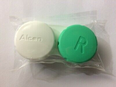 75 x Alcon OptiFree Express High Quality Lens Soaking Travel Cases Green/White