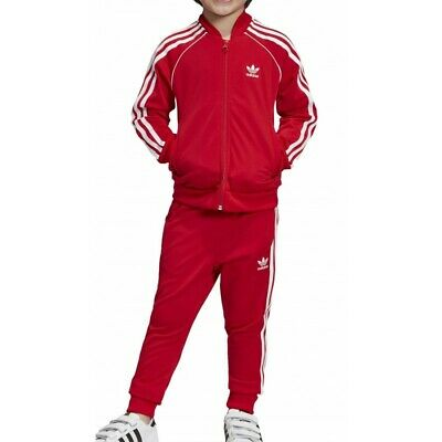 Completo Tuta Adidas Baby Superstar 3Stripes Rosso