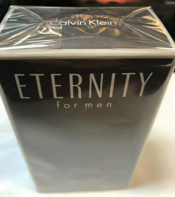 New Sealed - Eternity by Calvin Klein, 3.4 oz After Shave Splash for Men Spray