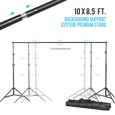 10'x8.5' Background Support System Premium Adjustable Stand with carry bag
