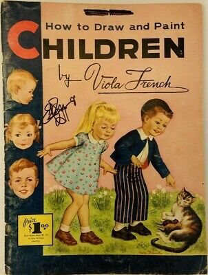 Vintage Art Book How To Draw and Paint Children Viola French Portrait Anatomy