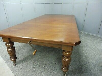 Antique 19Th C Mahogany Wind Out Dining Table