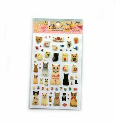 Jetoy ChooChoo Cat Kitty Kitten Blingbling Diary Deco Stickers Number Gift