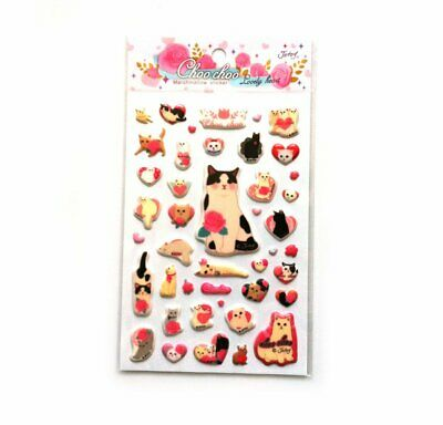 Jetoy ChooChoo Cat Kitty Kitten Diary Deco Stickers Lovely Heart Gift Present