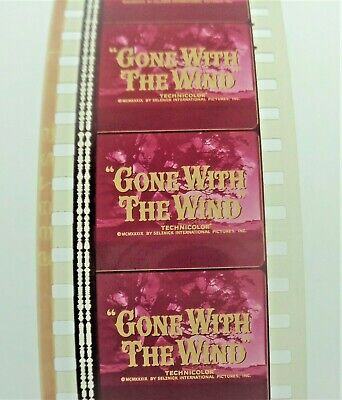 Gone With The Wind Film Cell Title Strip - 5 Film Cells  * Free Usa Shipping *